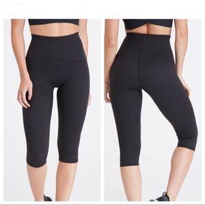 Spanx Booty Boost Active Knee Leggings In Black